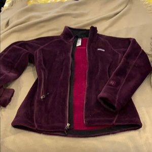 Purple Patagonia Fleece Jacket